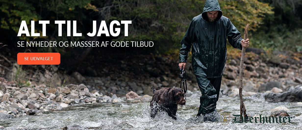 Mand på jagt med hund