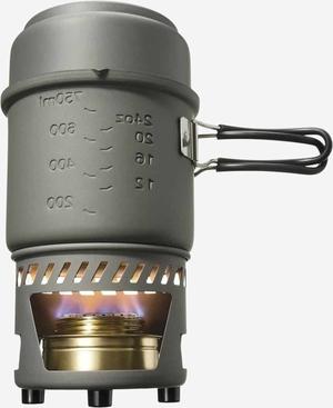 Esbit Cookset with alcohol burner, 985ml, aluminum with non-stick coating