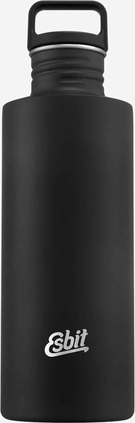 SCULPTOR Stainless Steel Esbit Drinking Bottle, 1L, Black