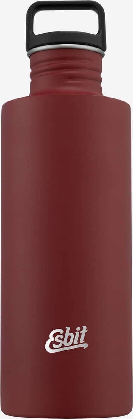SCULPTOR Stainless Steel Drinking Esbit Bottle, 1L, Burgundy Red
