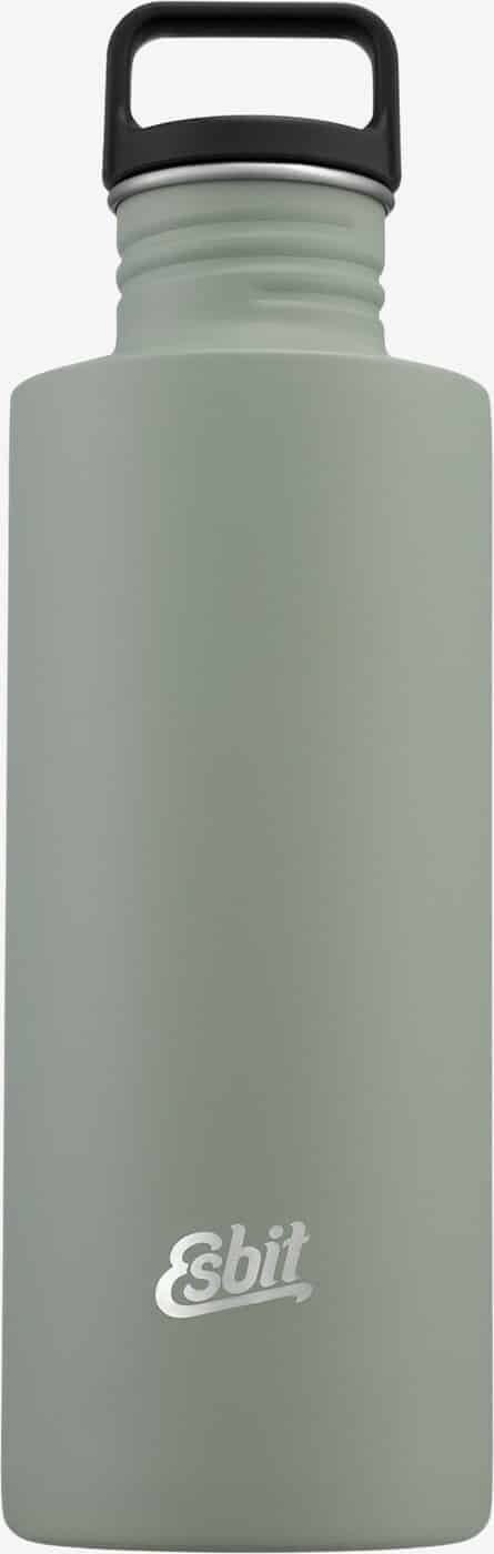 Esbit SCULPTOR Stainless Steel Drinking Bottle, 1L, Stone Grey