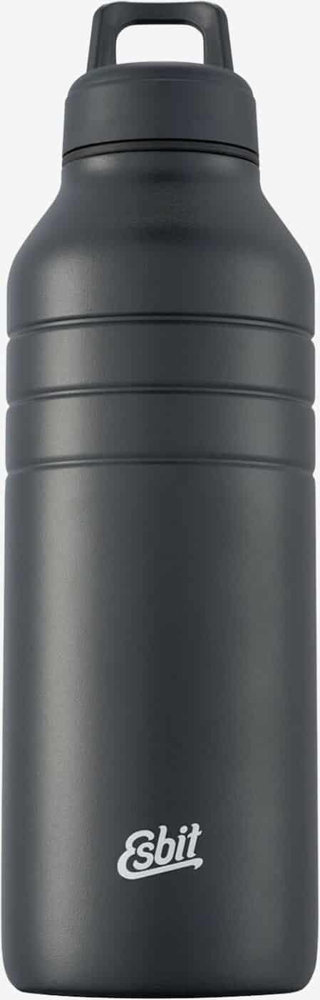 Esbit MAJORIS Stainless Steel Drinking Bottle, 1000ML, black