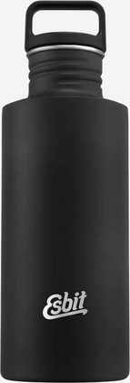 Esbit SCULPTOR Stainless Steel Drinking Bottle, 0.75L, Black