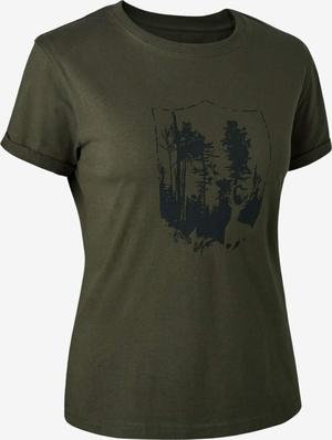 Deerhunter Lady t-shirt med skjold