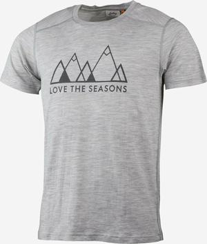Lundhags Gimmer Merino Lt Fjell T-shirt-Light grey
