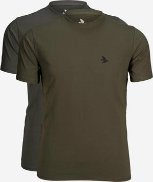 Seeland Outdoor 2-pak t-shirts-Raven/Pine green